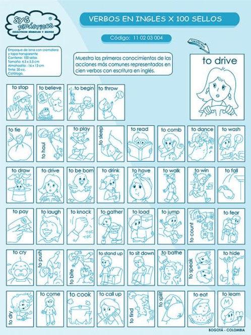 100 Timbres de Verbos en Inglés