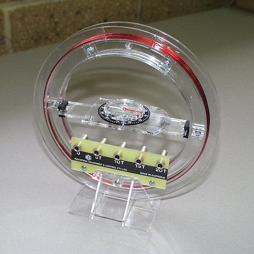 Galvanómetro de Tangentes Circular. 5 Vueltas
