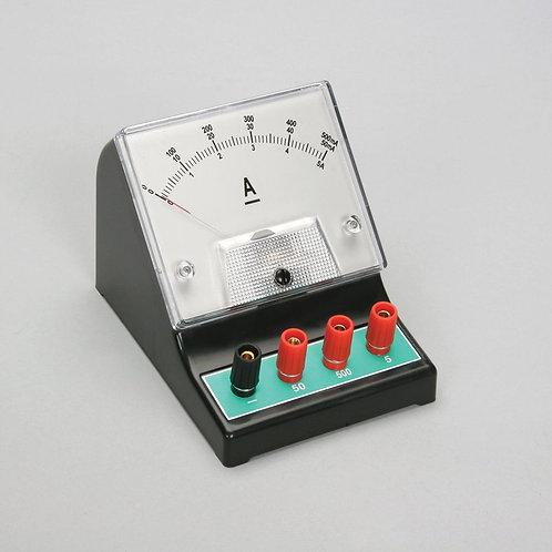 Amperímetro Análogo DC 0-50 mA/ 500 mA/ 5 A