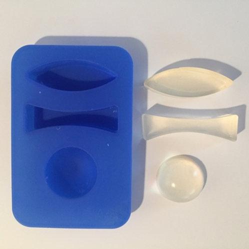 Moldes de Silicona para Lentes x 8