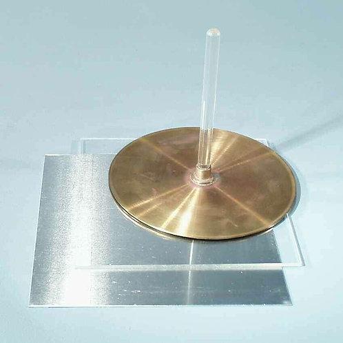 Electróforo. Diferentes diámetros
