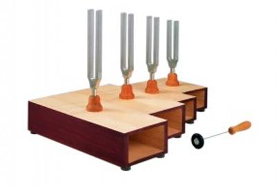 Set de 4 Diapasones Acorde Mayor con martillo