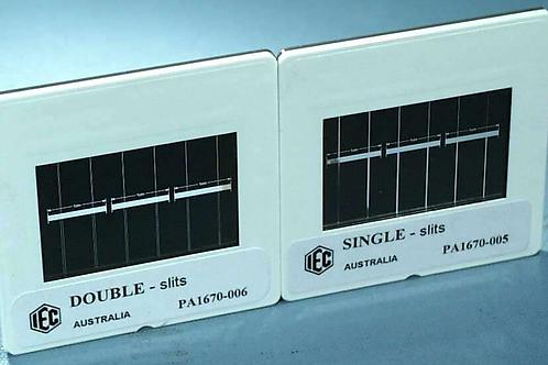 Diapositiva de rendijas simples o dobles