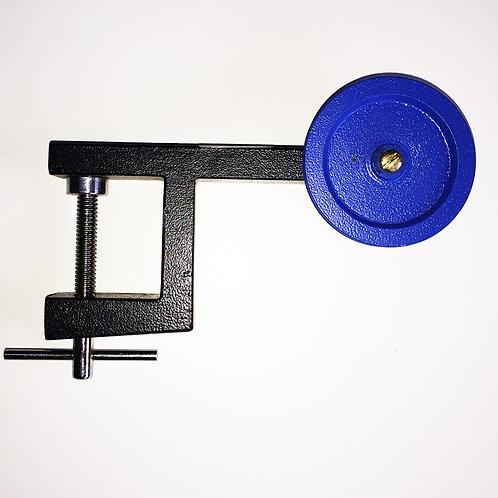 Polea vertical 50mm c/soporte mesón