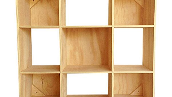Organizador/juguetero de 9 cubos -grande