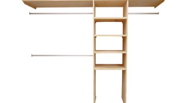 Closet de madera de Pino armable para espacio de 240cm