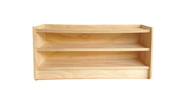 Zapatera Horizontal de madera de pino de 1.20 mts de largo