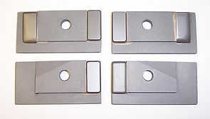 """This Side Guide Set fits Hydmech DM-10 / S20 Series III Saws using a 1.00"""" Wide Blade equipped with the listed cross numbers from the factory."""