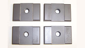 """This Side Guide Set fits Hydmech Saws utilizing a 1.50"""" Wide Blade where the Blade Guides are Manually Clamped with a Lever. Corresponding Backup Guides are Part Number HYD-BU1."""