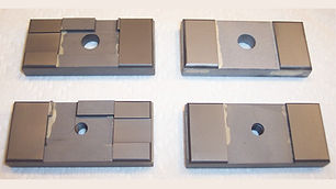 """Side Carbide Guide Set for DoAll Band Saws  Fits Horizonal Machines using a 1.50"""" Wide Blade"""