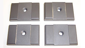 """This Side Guide Set fits Hydmech Saws utilizing a 1.50"""" Wide Blade where the Blade Guides are Hydraulically Clamped. Corresponding Backup Guides are Part Number HYD-BU1."""
