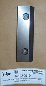 Movable Vise Plate (Lower) for Amada CTB400 Band Saws