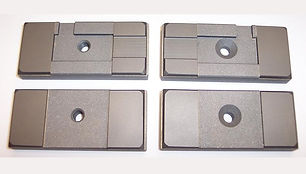 """Side Carbide Guide Set for DoAll Band Saws  Fits Model C1220 & Older Horizontal Saws using a 1.50"""" Wide Blade"""