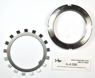AW-16 & AN-16 Crown Nut and Washer Set