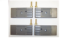 """This Side Guide Set fits Cosen Saws running a 2.625"""" Wide Blade and calling for the listed cross numbers. For a quick install, SHARC Ships the guides with the coolant fittings installed."""