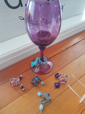 Wine Charms made by Connie Kreiser