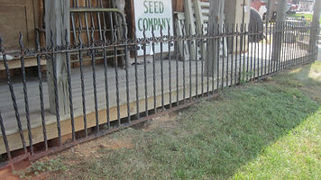 wrought iron garden fence heavy duty spring displays
