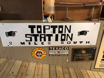 topton railroad station sign
