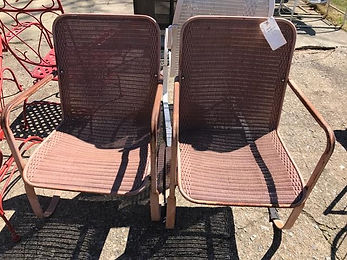 Red Material patio rocking chairs