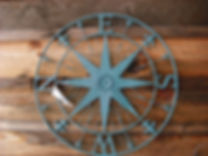 decrative barn side compass print