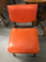 orange mid-century desk chairs