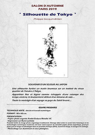 Silhouette de Tokyo - Démarche artistique - Salon d'Automne 2019