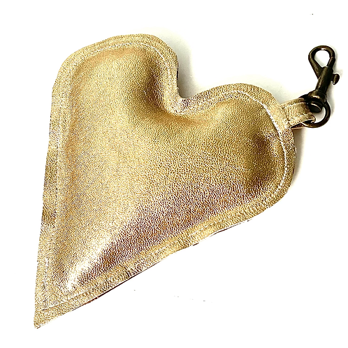 Leather Heart Accessory