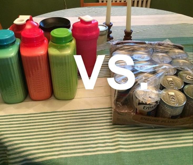 blenderized tube feeding vs Ensure