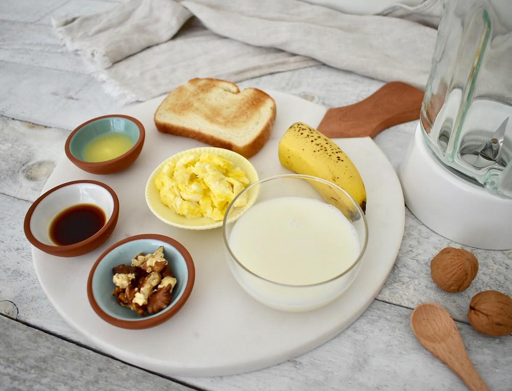 Blended diet tube feeding recipe ingredients. blenderized tube feeding banana bread recipe for adult or children.