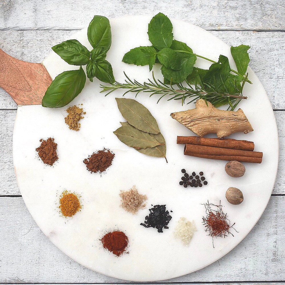 Spices to benefit blenderized tube feeding recipes.