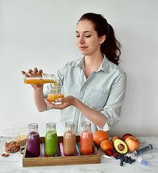 Claire Kariya demonstrates tube feeding for the blended diet online course.