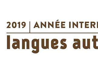 2019 : Année internationale des langues autochtones.