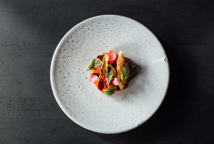 alpine salmon, pomegranate, cultured cre