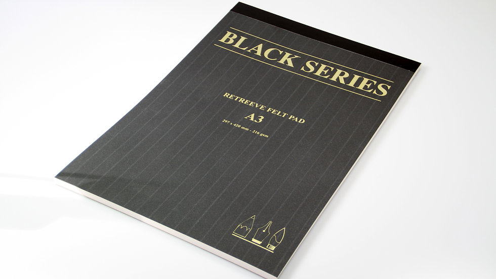 Acrylic Pad A3 - Black Series Retreeve Felt Pad - 30 Sheets - 216gsm
