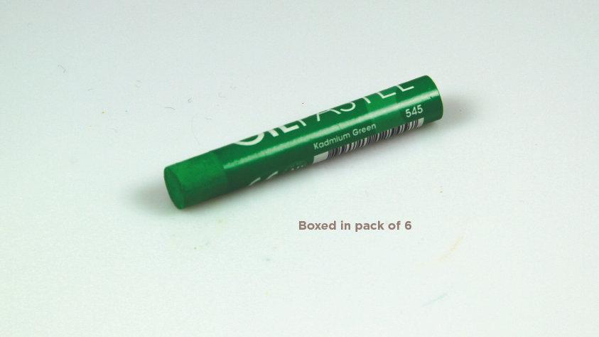 Mungyo Oil Pastel 6's  - Kadmium Green 545