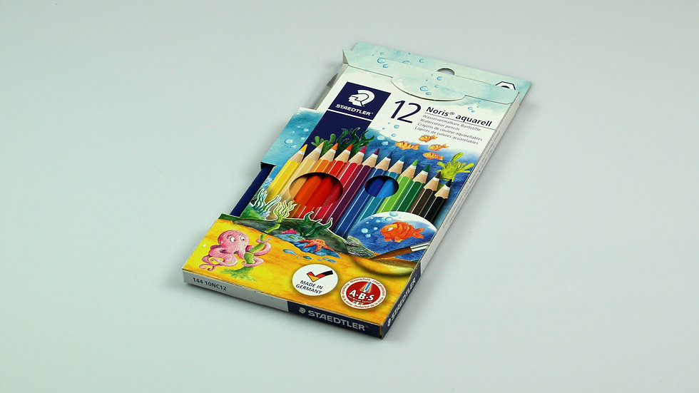 Colour Pencils, Noris, Watersoluble - Pack of 12