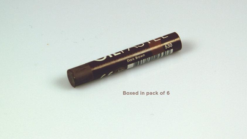 Mungyo Oil Pastel 6's  - Dark Brown 530
