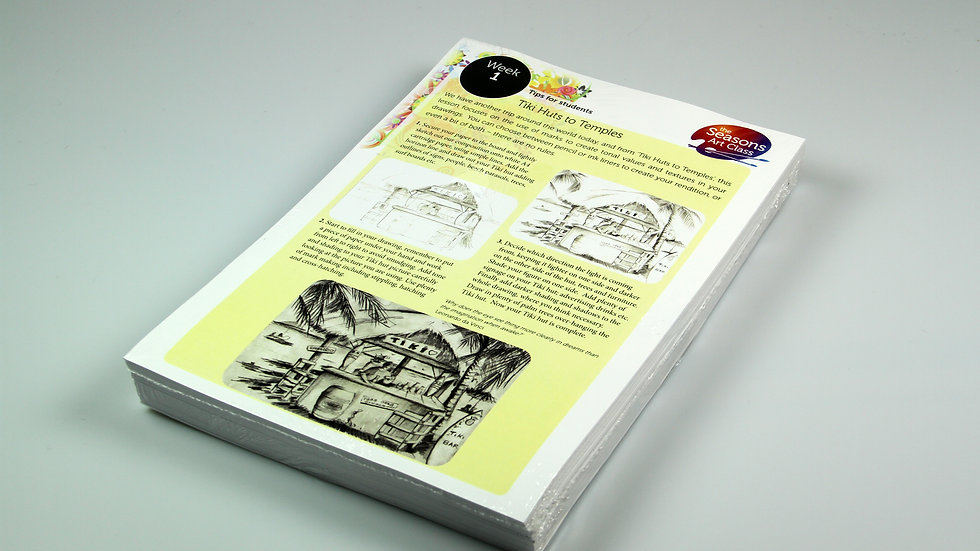 #5 Curriculum - Sketch, Pastel, Watercolour, Acrylic Modules - 10 Pack