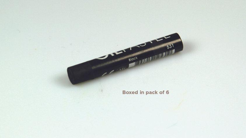 Mungyo Oil Pastel 6's  - Black 531