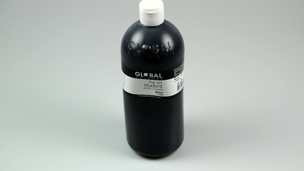 Global Acrylic Paint Bottle 1Litre , Black
