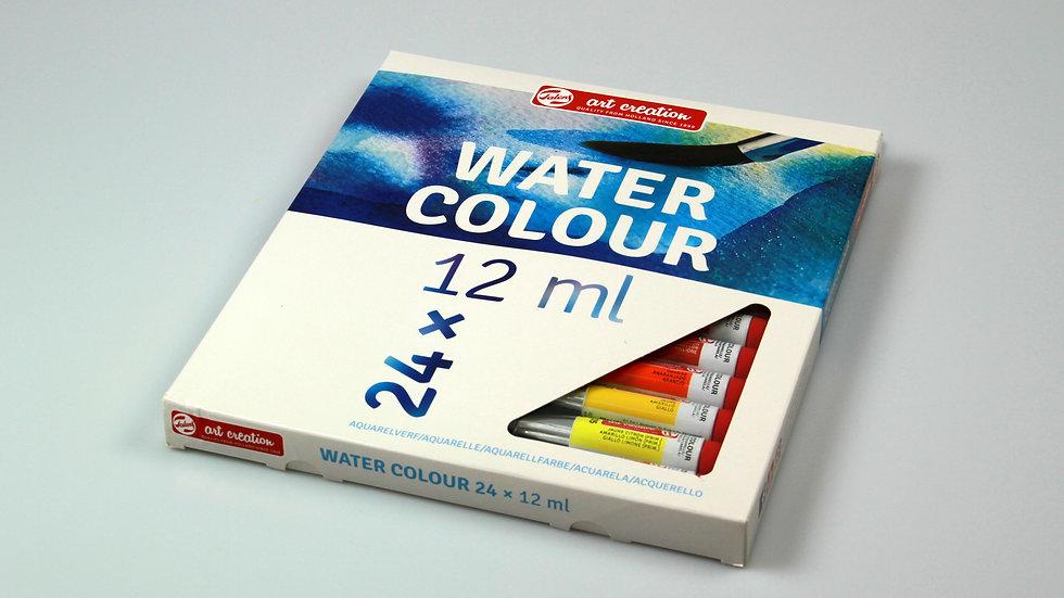 Talens Watercolour Paints, 12ml x 24 colour
