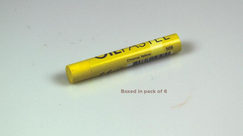 Mungyo Oil Pastel 6's  - Chrome Yellow 505