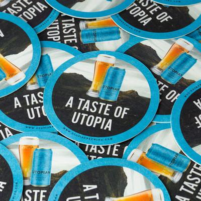 Utopian Lager Taste Beer Mat