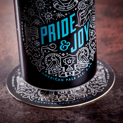 Vocation Brewery Pride & Joy Can Beer Mats Coasters