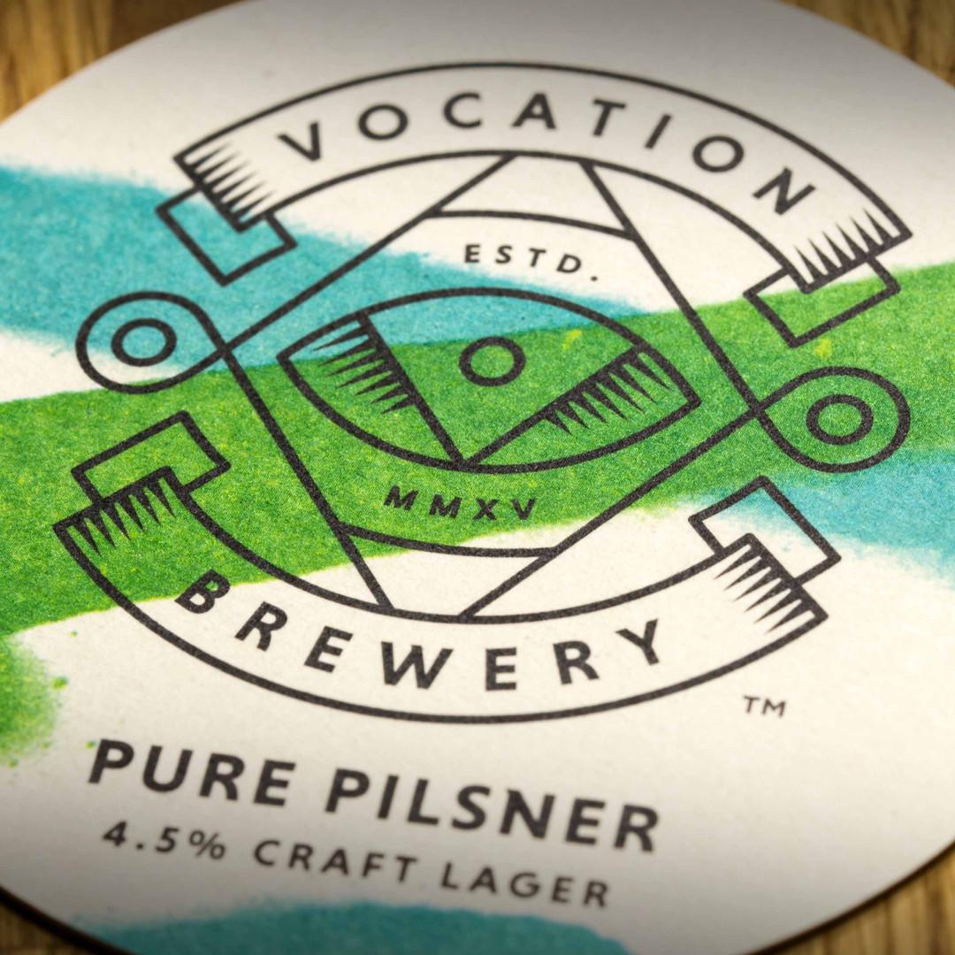 Vocation Brewery Pure Pilsner Beer Mat Coaster