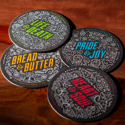 Vocation Brewery Multiple Design Beer Mats Coasters