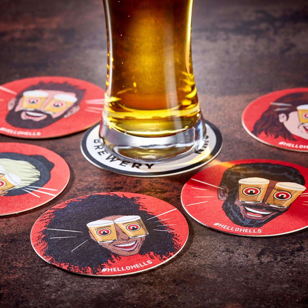 Camden Town Brewery Hells Face Beer Mats
