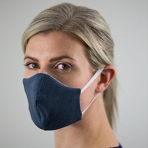 Denim & Organic Cotton Face Mask - Small/Medium