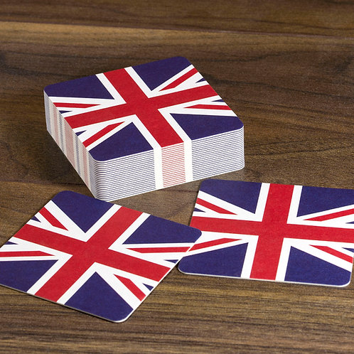 Union Jack Beer Mats (British Flag)