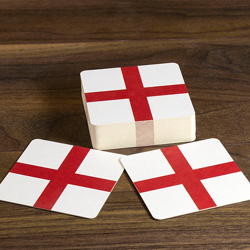 England Flag Beer Mats / Coasters - St Georges Cross
